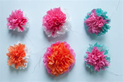 tissue paper flower garland tutorial tissue paper flower wreath maker crate