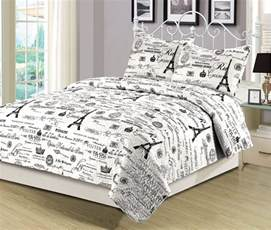 Eiffel Tower Bedding Sets Black And White Bedding