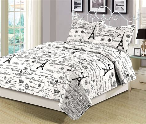 black and white paris comforter set paris black and white bedding pictures to pin on pinterest
