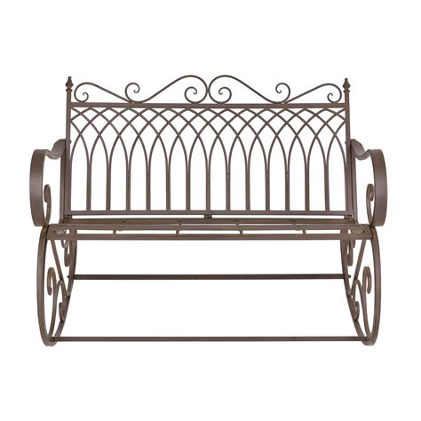 metal garden bench ebay casa pro swing bench garden furniture metal iron ebay
