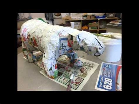 How To Make A Polar Out Of Paper - polar paper mache