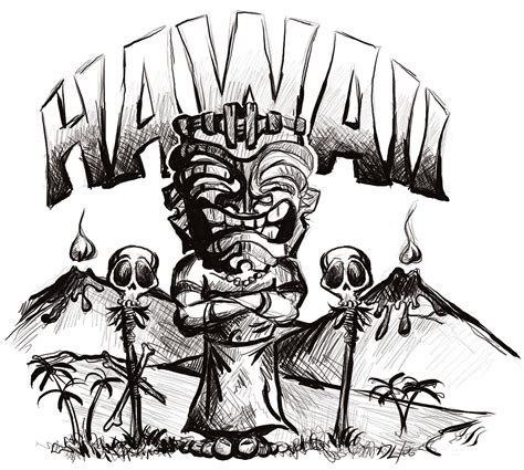 7 Sketches Hawaii by Hawaii Tiki By Clysdale On Deviantart