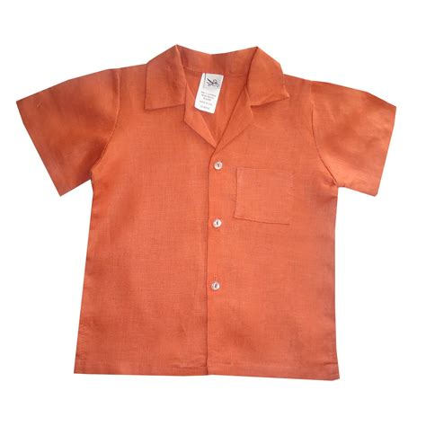 rust colored shirt boys rust colored linen shirt aby s