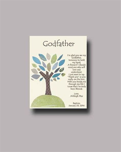 godfather gift personalized gift for godfather