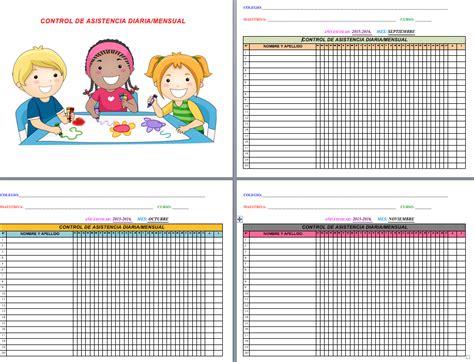 control de asistencia para kinder related keywords suggestions for hoja de asistencia diaria