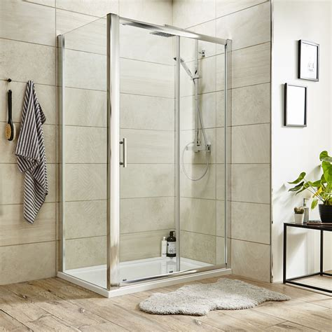 Shower Trays And Doors Turin 8mm Rectangular Sliding Door Shower Enclosure Available Now