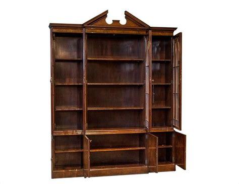 Georgian Display Cabinet Georgian Style Breakfront Display Cabinet For Sale At 1stdibs