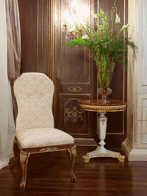 sedie classiche di lusso sedia rivestita in velluto di seta lusso idfdesign