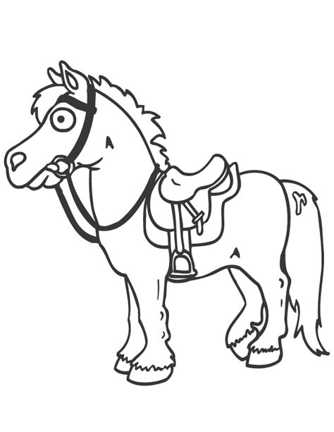 coloring pages of cartoon horses free horse images cliparts co