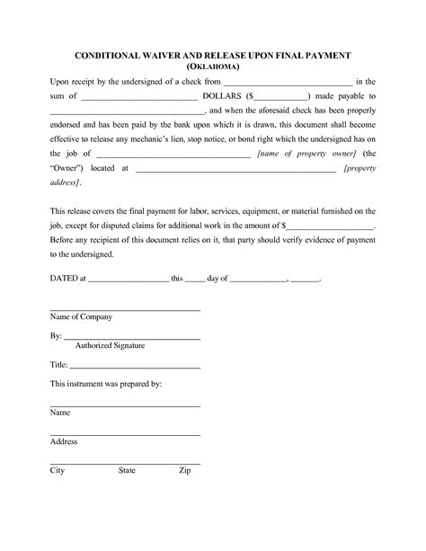 property damage waiver template best photos of waiver of property template liability