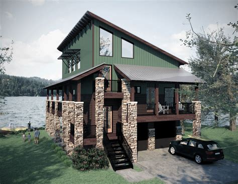 small lake homes farmhouse plans lake house plans