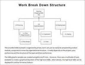 Work breakdown structure template free amp premium templates
