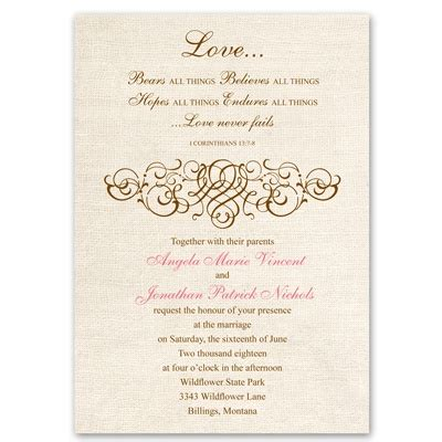 Wedding Card Invitation Christian by Rustic Wedding Invitation Christian Wedding Invites