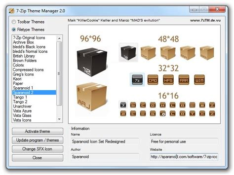 themes for windows 7 zip 7 zip theme manager