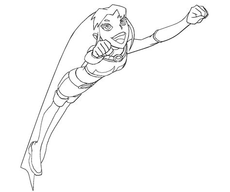 starfire coloring pages free coloring pages of titans starfire