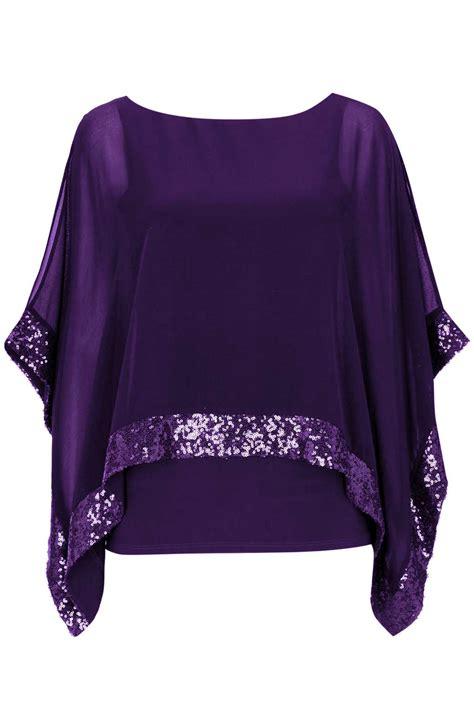 Top Purple purple sequin top wallis