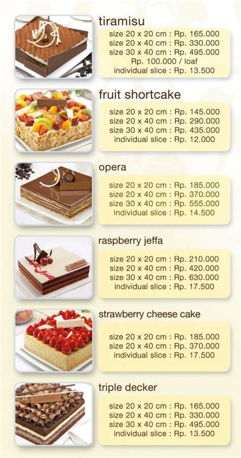 Kue Soes Isi Cokelat Keju harga kue tart bakery foto 2017