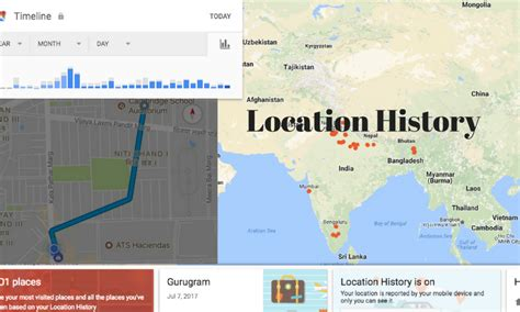maps location history location history shows where you were in past