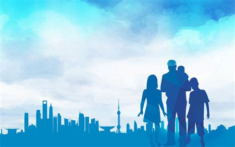 family background blue family poster background psd blue