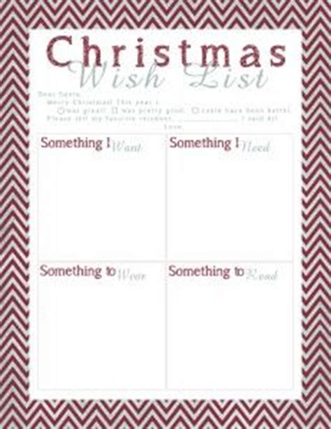 gift exchange list template 1000 images about holidays on wish list wish list and secret santa