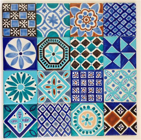 Ceramic Wall Murals moroccan inspired hand painted ceramic tiles for