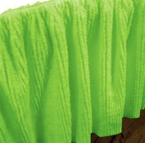 lime green bed skirt lime green chenille bedskirt in twin full queen olympic queen king and cal king