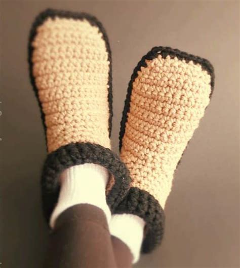 free crochet slipper patterns for adults easy crocheted slippers allfreecrochet