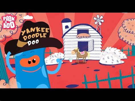 hey doodle doodle rhyme yankee doodle popular nursery rhyme for peekaboo