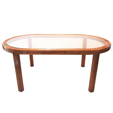 Colored Dining Table Dining Room Table Bamboo And Colored Glass Circa 1970 For Sale At 1stdibs