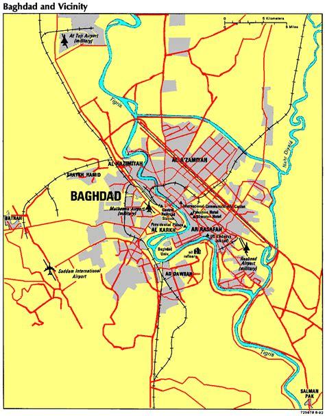 baghdad map baghdad maps