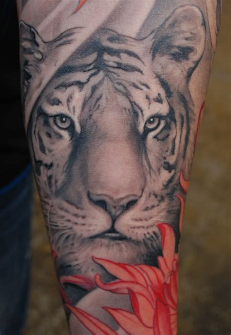 cool tiger tattoo on leg fresh tattoo ideas