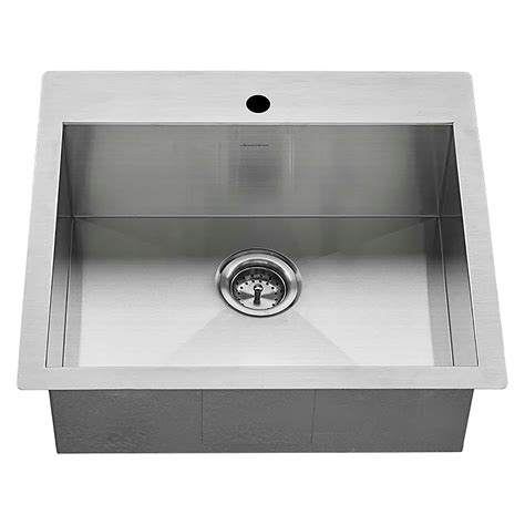 edgewater dual mount 25x22 stainless steel kitchen sink