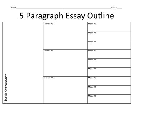 template for 5 paragraph essay worksheet five paragraph essay outline worksheet