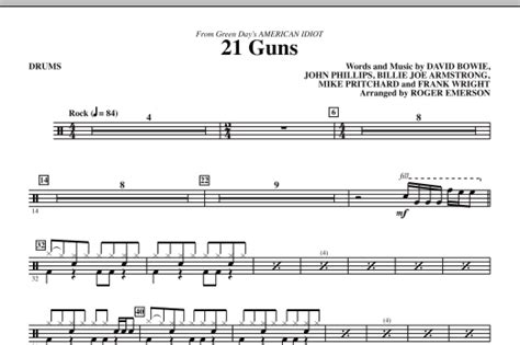 real drum tutorial 21 guns 21 guns from green day s american idiot drums sheet