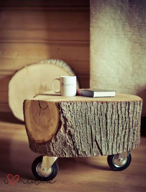 Log Coffee Table Diy 15 Smart Diy Reclaimed Wood Projects