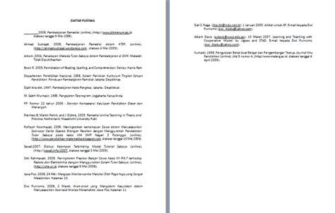 contoh format daftar pustaka apa contoh penulisan daftar pustaka makalah format microsoft