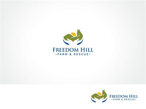 design a logo for non profit bold professional logo design for freedom hill farm and