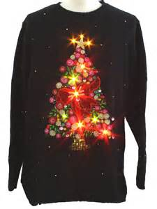 tacky sweater with lights lightup sweater christopher radko