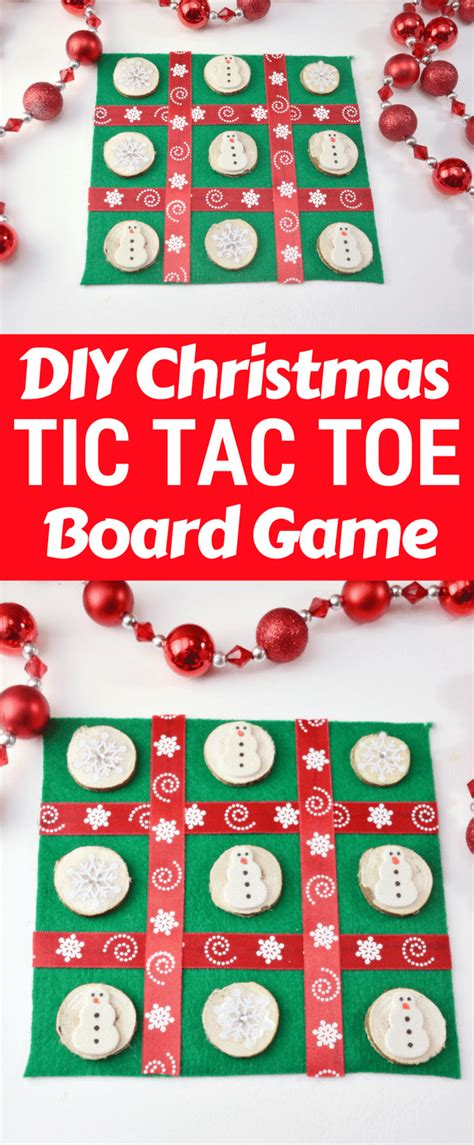 home made christmas gift games diy tic tac toe board craft
