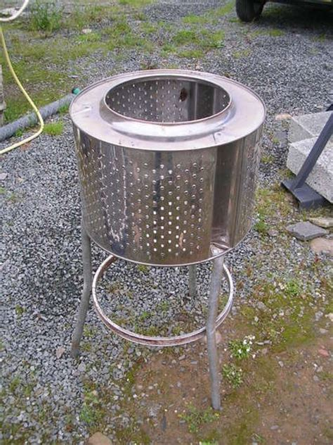 Make A Washing Machine Tub Pit turn an washing machine into a backyard pit