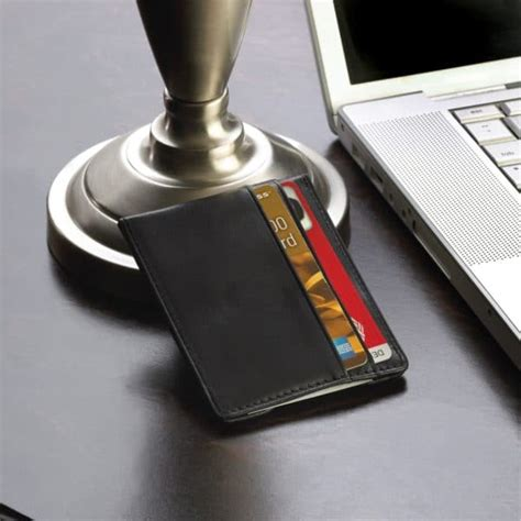 Gc Wp Wallet personalized black leather wallet and cufflink gift set the registry