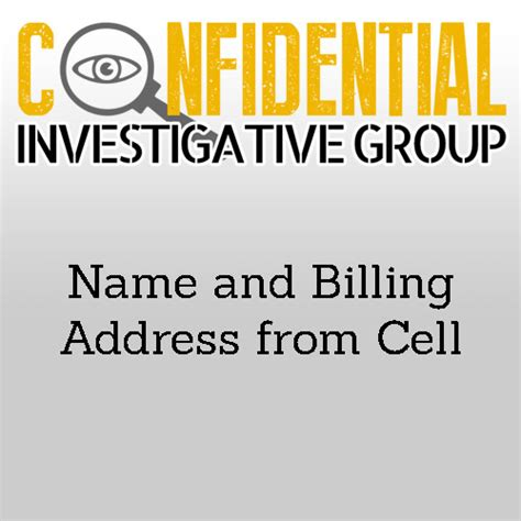 Search Name And Address Name And Billing Address Search From Mobile Number Confidential Investigative