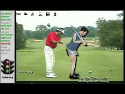 fred couples swing analysis fred couples swingclone kinect animated golf lesson and