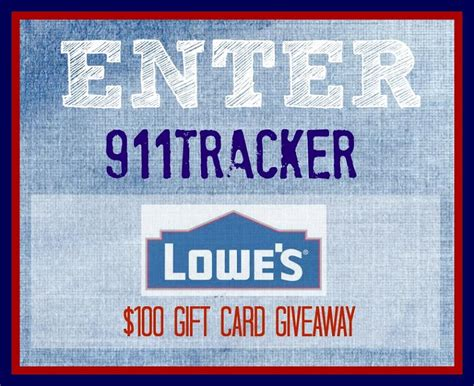 How Much Is On My Lowes Gift Card - 100 lowes gift card giveaway