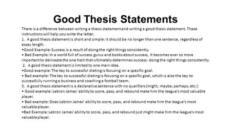 exles of strong thesis statements exles of strong thesis statements image