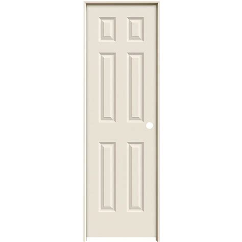 Primed Interior Doors Jeld Wen 24 In X 80 In Smooth 6 Panel Solid Primed Single Prehung Interior Door