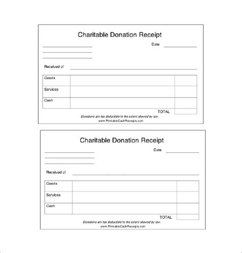 charitable donation receipt template donation receipt template 18 free sle exle