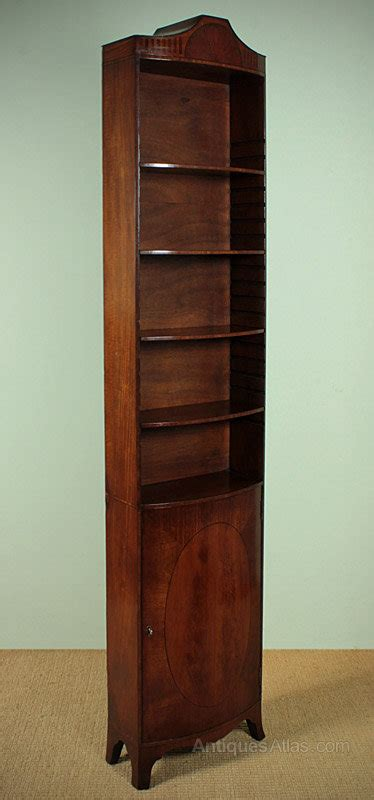 Narrow Mahogany Bookcase Antiques Atlas Narrow Mahogany Pencil Bookcase