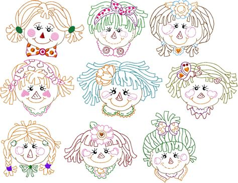 rag doll faces images rag doll embroidery design images