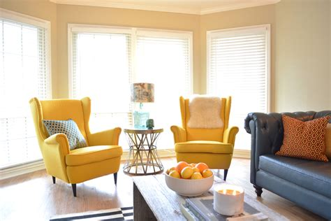 Yellow Chairs Living Room Regarding Your Own Home Living Yellow Living Room Chairs